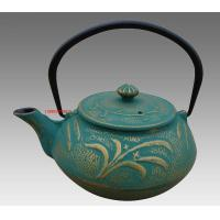 Best Green Dragonfly Pattern Cast Iron Teapot Set in China with Four 150ml Tea Cups wholesale