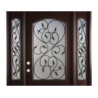 Best Hollow Wrought Iron Glass Safety Tempered Technical Entry Door Suit Oval Shaped wholesale