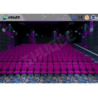 Best Sound Vibration Cinema 3D Movie Theater System With Shock Effects Seats wholesale