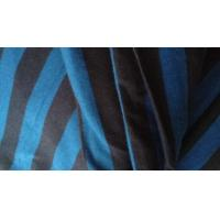 Best Shrink - Resistant Black And Blue Horizontal Striped Fabric For Apparel 58