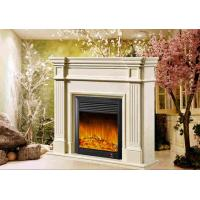 Best Decorative White Freestanding Modern Electrc Fireplace support Oak / Poly Resin Material wholesale