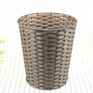 Best PP Weaving Rattan Fashionable cheap price white round plastic rattan basket waste bin wholesale