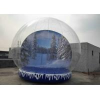 Cheap Fun Playing Snow Globe Yard Inflatable , Human Snow Globe Taking Photos Inside for sale