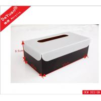 Best Car / Hotel  Acrylic Holder Stand , Acrylic Tissue Box In Black Color wholesale