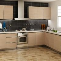 Best Modern Custom Kitchen Cabinet Furniture High Gloss , Solid Wood Kitchen Cabinets wholesale