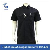 Best Custom Design Black Security Guard Shirts , Tactical Work Shirt For Duty wholesale