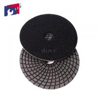 China 4 Inch / 5 Inch Wet Diamond Polishing Pads , Spiral Velcro Polishing Pads on sale