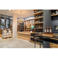 Wineshop Interior fit out Bespoke Natural Wooden with Metal frame Storage Cabinet and Display Selling-Counter