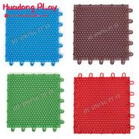 China Multifunctional Rubber Playground Tiles Pp Material Long Lifetime  Scentless on sale
