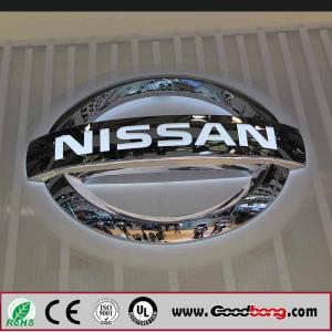 China Customized Shape Acrylic car logo Vacuum Moulding Car Logo Signs on sale