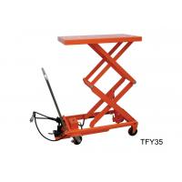 Double Scissor Pneumatic Lift Table 1000kg Load Capacity For Repairing And Maintenance