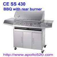 China Gas Barbeque with ceramic back burner on sale