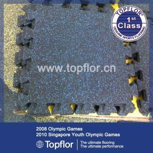 China Gym Rubber Floor Mat Interlock Rubber Floor Tile on sale