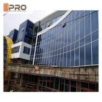 Best Blue Color Aluminium Glass Curtain Wall For Building Exterior Wall Decoration wholesale