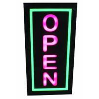 China Digital Square LED Open Sign Backlit Illumination Red Blue For Retail Store on sale