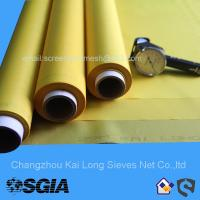 China Screen Printing Mesh With 100% Polyester In Yellow Or White For Packaging Printing wholesale