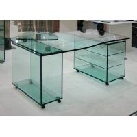 China Custom 15mm Tempered Glass Furniture , Clear Glass Table For Office on sale