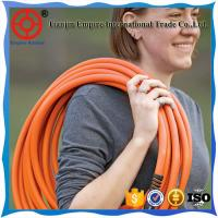 China high pressure garden hose nozzle fittings fabric flat  garden hose on sale