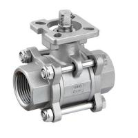 China Hygienic Sanitary SS304,316L Three Piece Ball Valves With iso5211 High Mounting Pad on sale