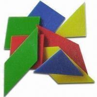 Best Hard Plastic Tangram with Four Colors, Measures 10 x 10 x 0.2cm wholesale
