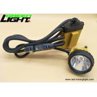 China Rechargeable led corded-cable miners cap lamp 10.4Ah SAMSUNG battery pack 25000lux high brightness on sale