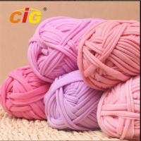 Best Colorful Dyed 100% Cotton Fabric Yarn Garments Accessories For DIY Hand Knitting wholesale