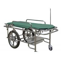 Best Height Fixed Ambulance Stretcher Trolley 180kg Load Capacity Two Large Wheels wholesale
