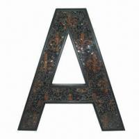 Best Letter Wall Decor with FDL Pattern in Mosaic Inside, Made of Polystone/Glass wholesale