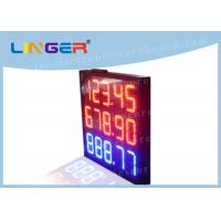 China Professional Digital Price Sign Gas Station , Gas Led Display Board Price on sale