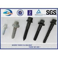 Buy cheap Railway Sleeper Screws spike Fasteners 90 degree without crack TUV product