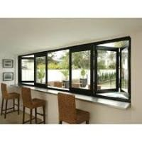 Buy cheap Residential Aluminum Bifold Windows With Black Or Customized Color Heat from wholesalers