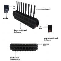 China Gsm / 4g Radio Frequency Blocker Mobile Cellphone Signal Jammer For Large Areas on sale