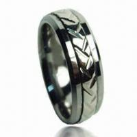China Fashion Men's Jewelry Ring with Engraving, Small Orders are Accepted, Laser Logo is Available on sale