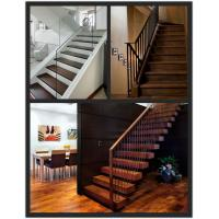 China Asian walnut solid wood stair treads on sale