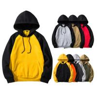 China Fashion 100% Cotton Block Mens Oversized Pullover Hoodie For Autumn Season on sale