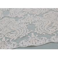 Best Ivory Sequin Lace Fabrics , Embroidered Bridal Lace Fabrics For Wedding Dresses wholesale