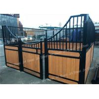 China Hot Dip Galvanized Or Powder Coated Horse Stall Panels Bamboo With Rolling on sale