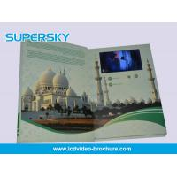 Best 4.3 inch / 5 Inch TFT LCD Video Brochure , Folded LCD Greeting Card wholesale