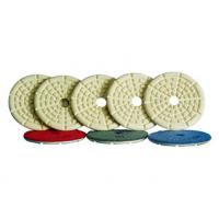China High Precision Angle Grinder Polishing Pad With Straight Or Curved Slots Face on sale