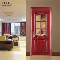 Best Rural Hotel Solid Wood Interior Doors With Glass High Temperature Resistant wholesale