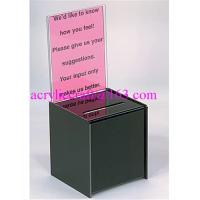 Best Acrylic donation box / plexiglass suggestion box / plastic collection box wholesale