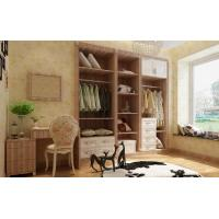 China Exquisite Line Decoration Wooden Almirah Walk in Closet Designs wholesale
