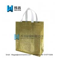 Best 100gsm Eco glitter film lamination Non Woven Bag /Promotional Custom Laminated PP Non Woven Tote Shopping Bag wholesale