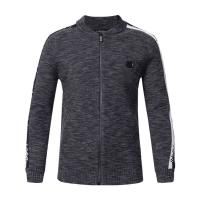 Best Custom Thick Knit Men's Cardigan Wool Sweater With Round Collar Full Sleeves wholesale