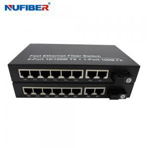 Best FCC Single mode Fiber Ethernet Switch DC5V 2A 8 Rj45 Port Switch wholesale