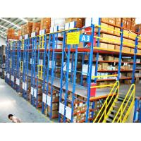 China Multi - Layer Powder Coating Rack Supported Mezzanine Floor With Walkways on sale