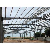 China Large Span Steel Frame Prefabricated Steel Structure Building With Rigid Steel Frame on sale