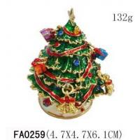 China Christmas Tree And Snowman Collectible Christmas Trinket Boxes on sale