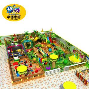 Colorful Kids Indoor Playground Equipment Capacity 70 Children Per 100 Square Meters