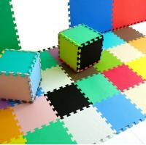 Best Blue Portable EVA Foam Mat / Foam Floor Mat For Mattress , 12mm Washable Mat wholesale